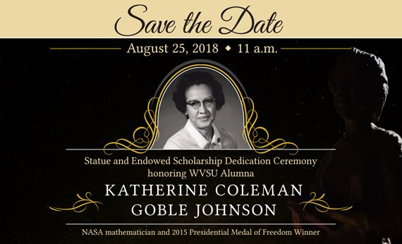 West Virginia State University to Honor Katherine Johnson with Statue, Scholarship