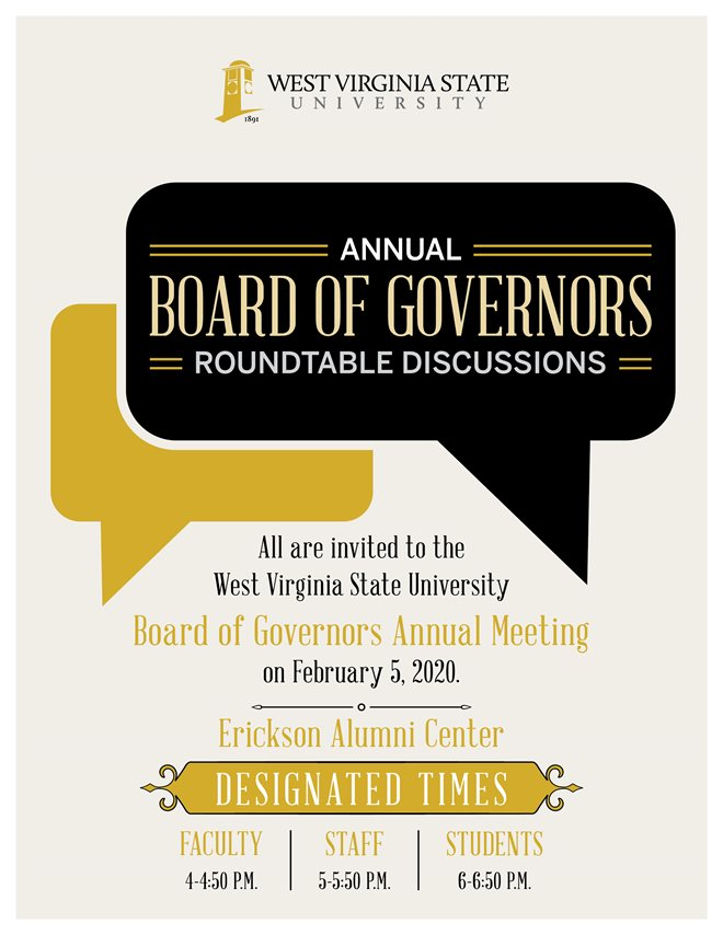 WVSU Board of Governors Roundtable Discussions Feburary 6