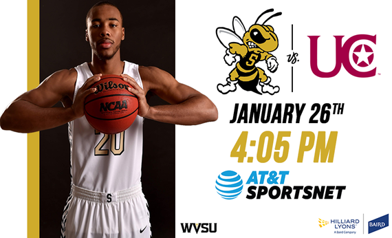 WVSU-UC Men's Basketball Game to be televised live on AT&T SportsNet Pittsburgh