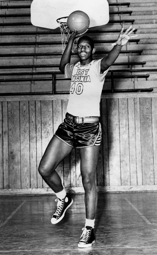 Earl Lloyd as a player at West Virginia State