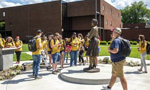 High school students tour the WVSU campus