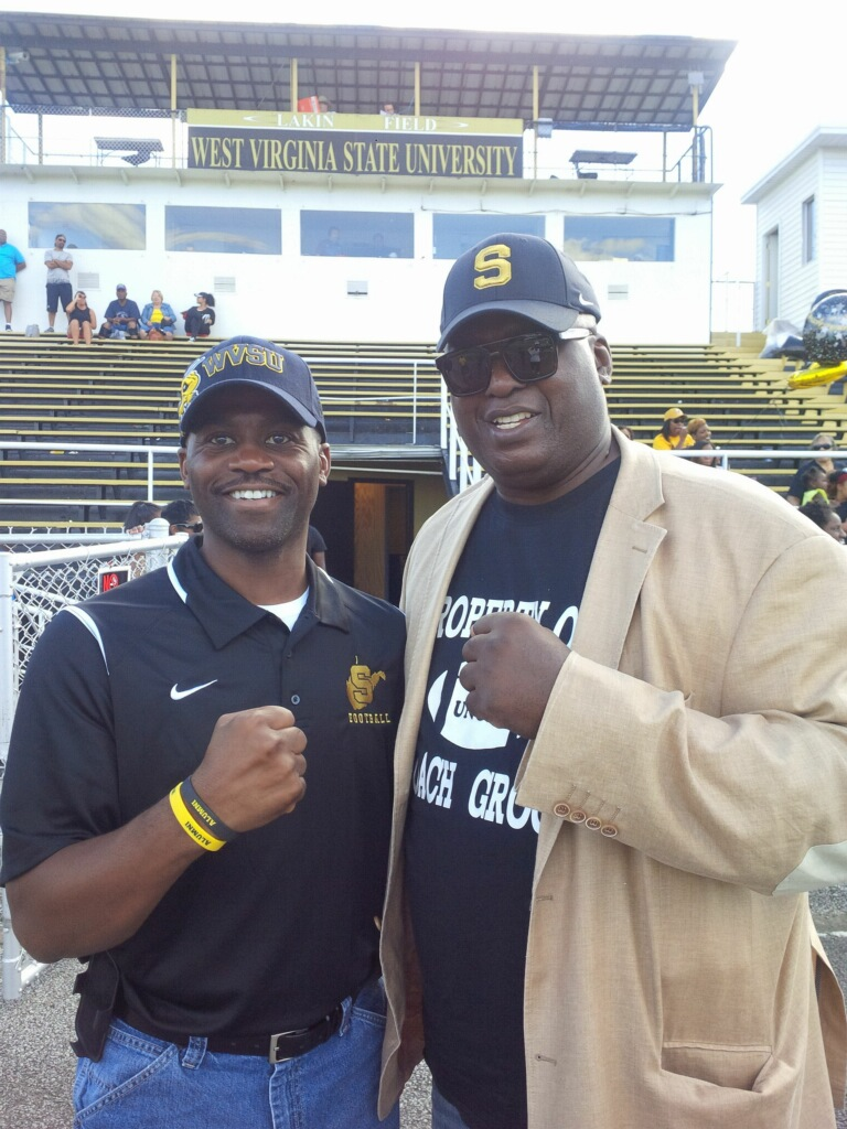 Boxing great Buster Douglas meets President Jenkins