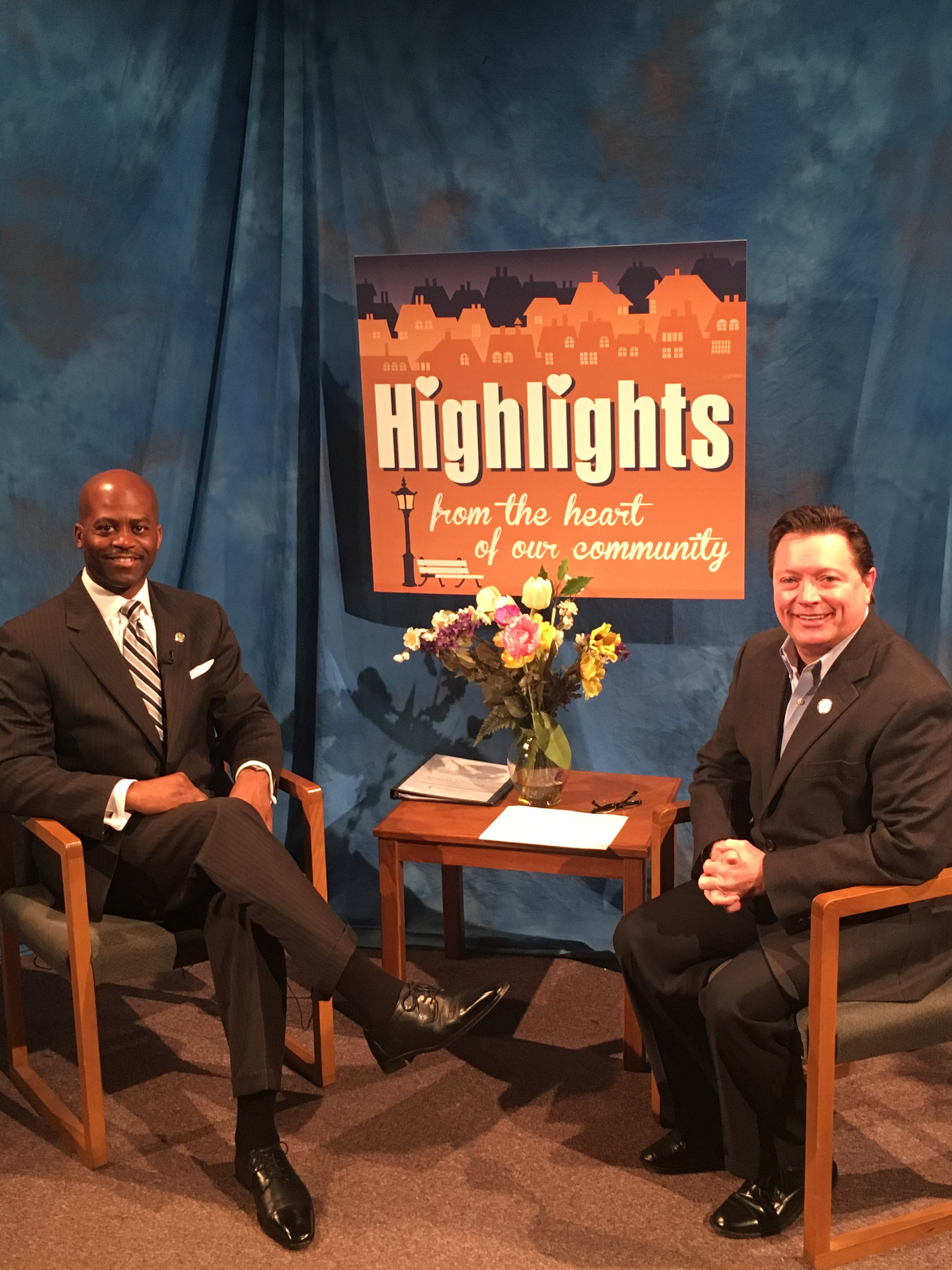President Jenkins with Jim Strawn on Highlights
