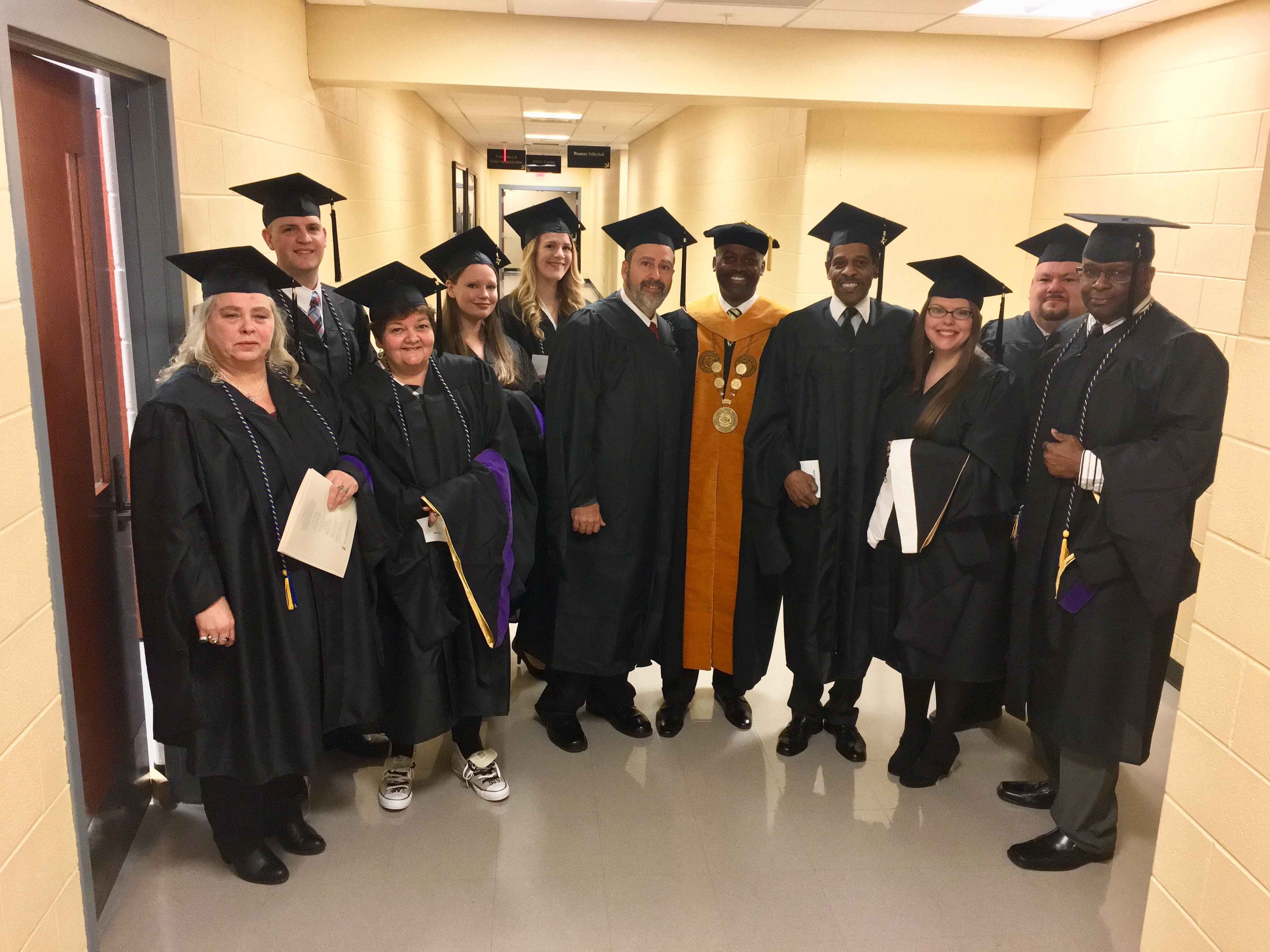 President Jenkins with December 2017 Graduates