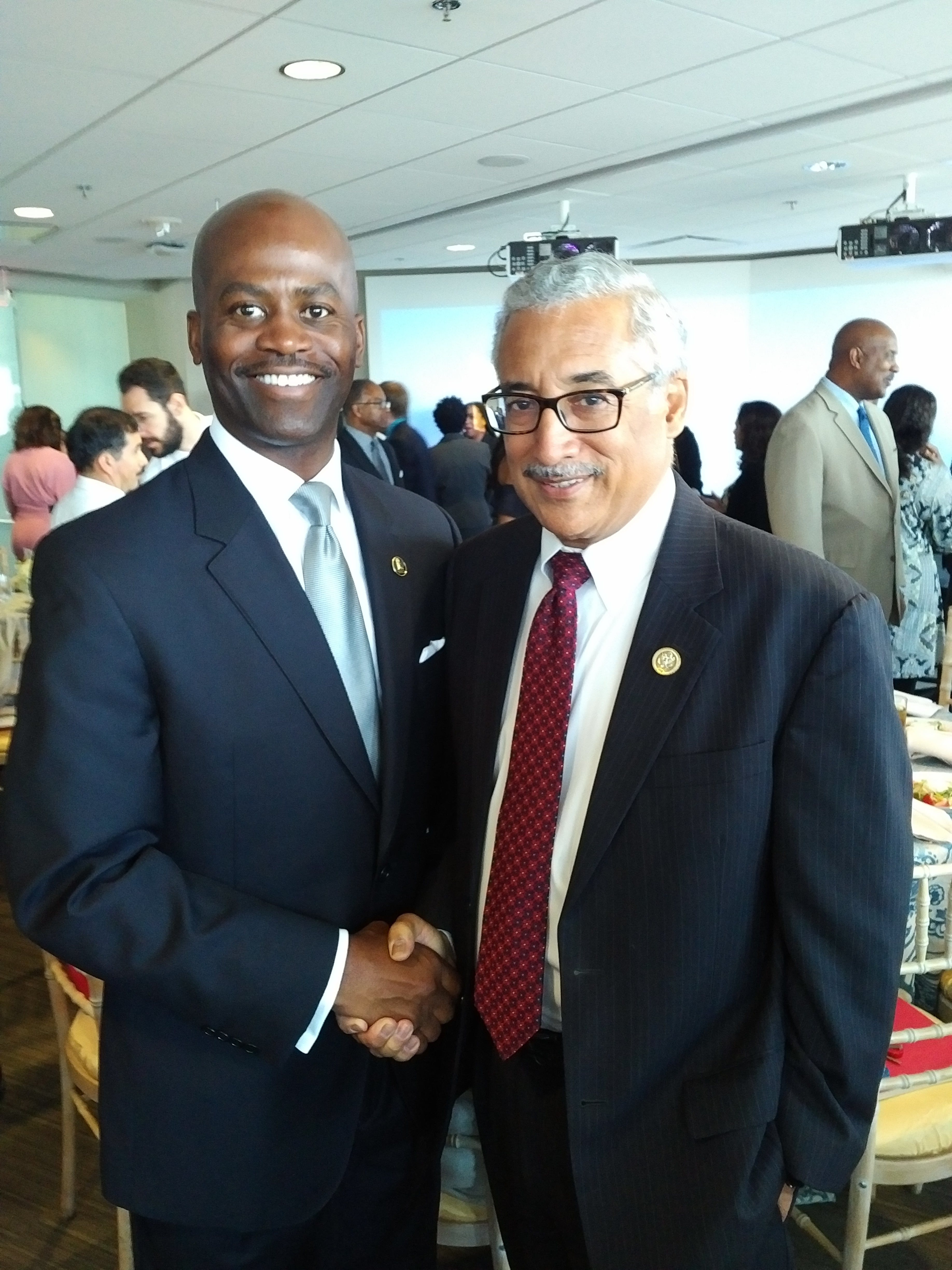 President Jenkins with U.S. Rep. Bobby Scott