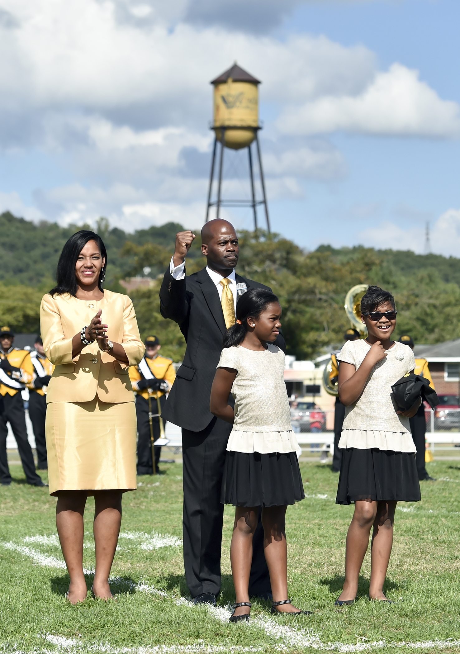 First Family during half-time at homecoming