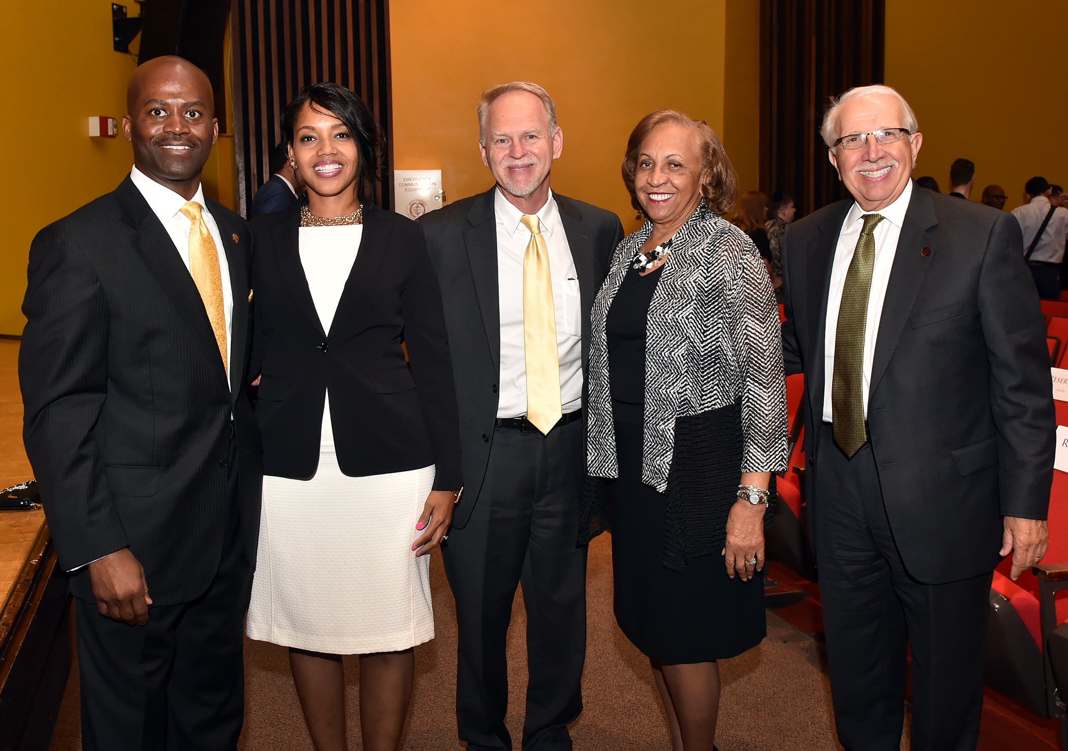 WVSU BOG Members and WV HEPC Chancellor pause with President and First Lady Jenkins