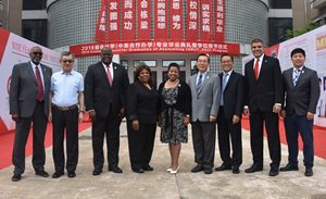 Group of WVSU and NBUT administration and faculty members in China.