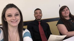 Criminal justice honor society students