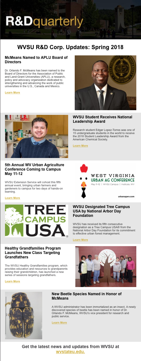 West Virginia State University - WVSU Research & Development Corporation
