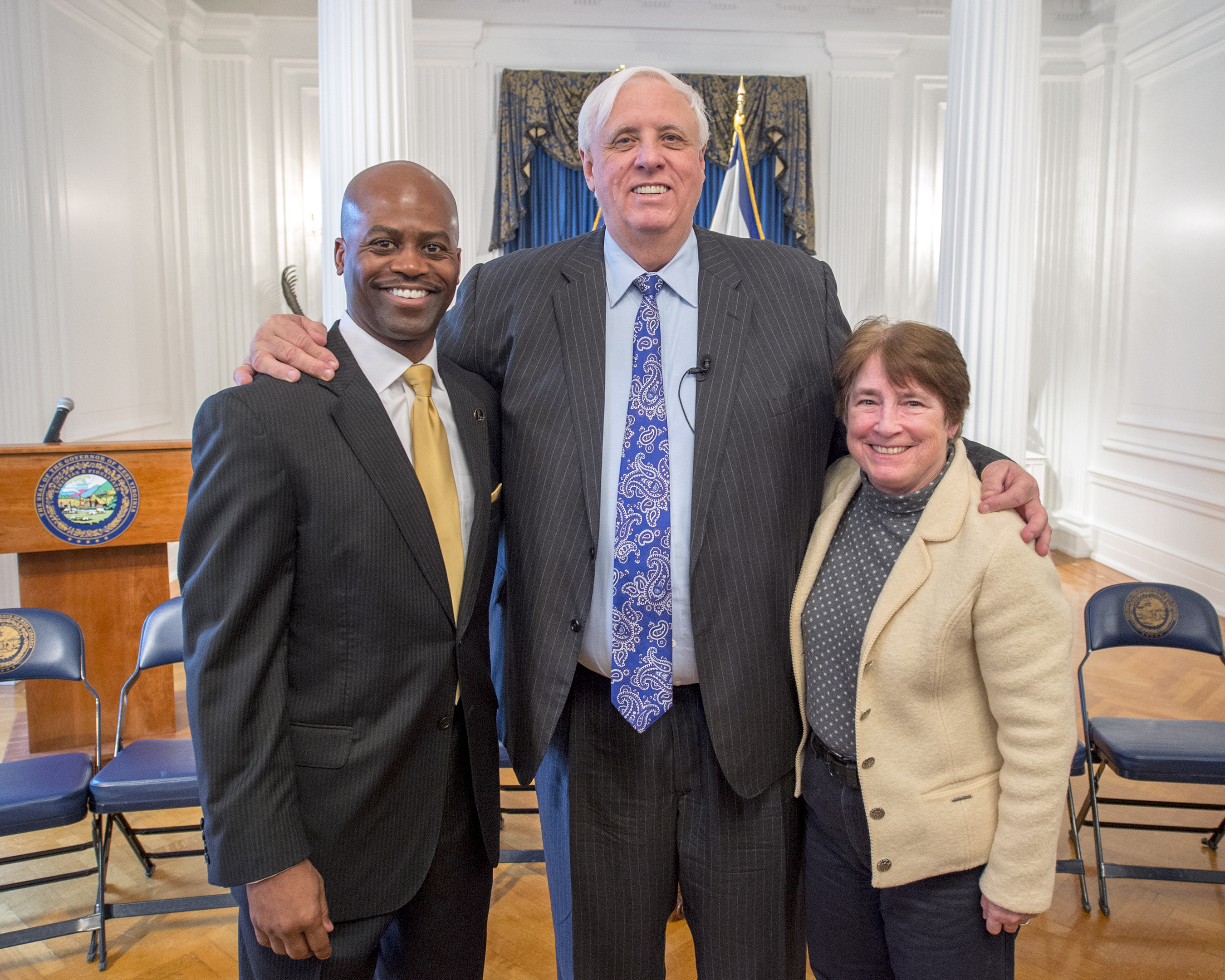 President Jenkins with Gov. Justice and President Bellinger