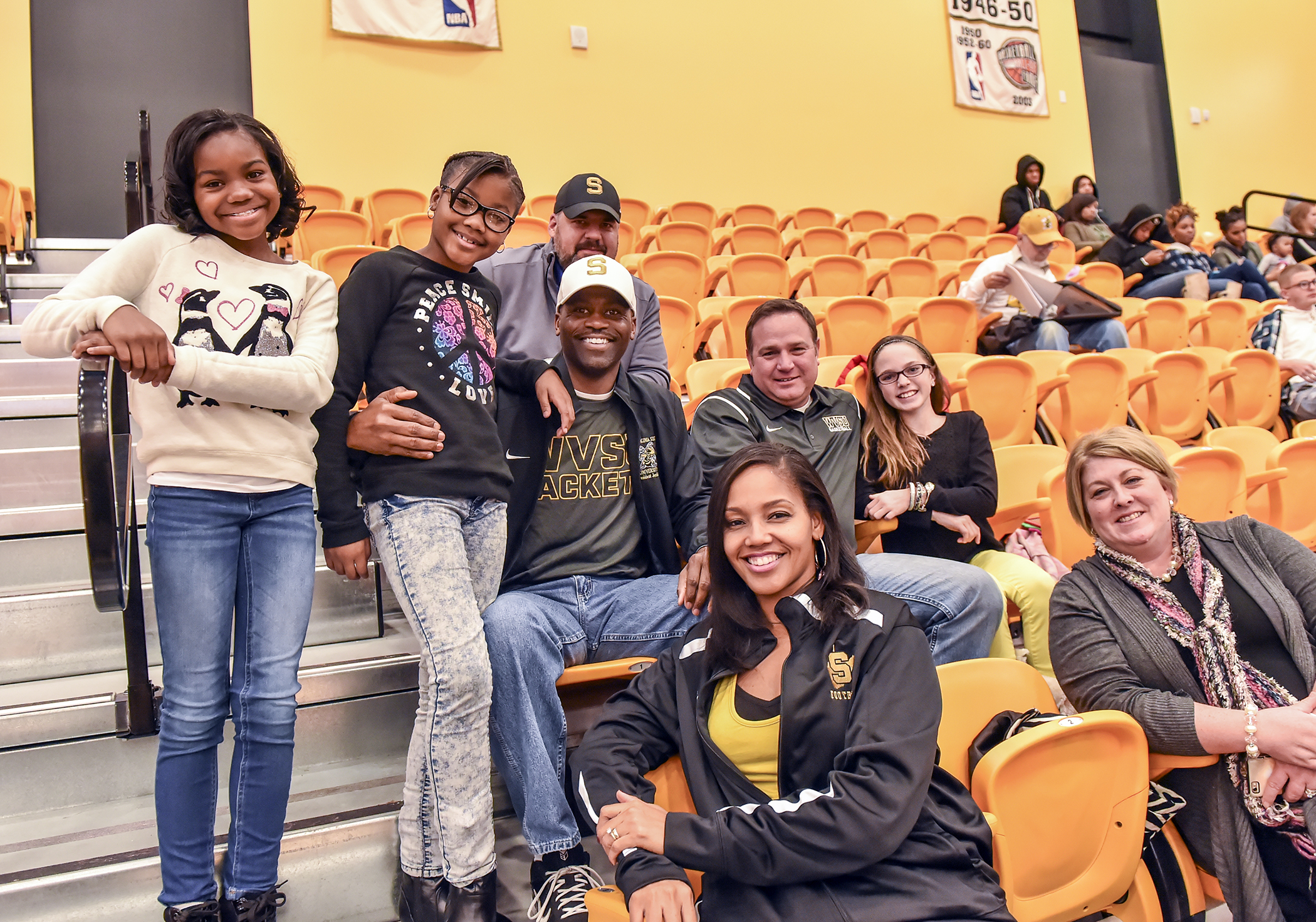 First Family enjoys a WVSU basketball game