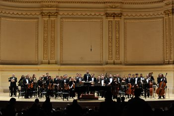 The Philharmonic Orchestra recently performed as invited guests in Carnegie Hall in New York City.