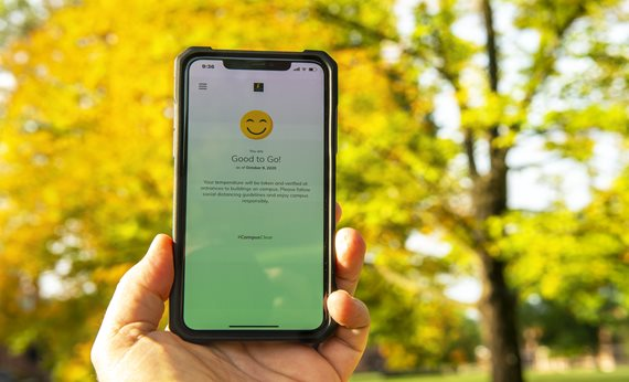 Use the #CampusClear App for daily health self-monitoring